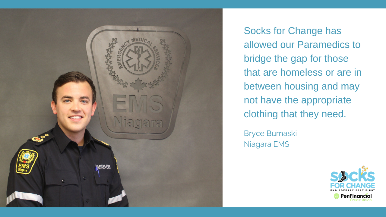 What Socks for Change Means to Niagara EMS