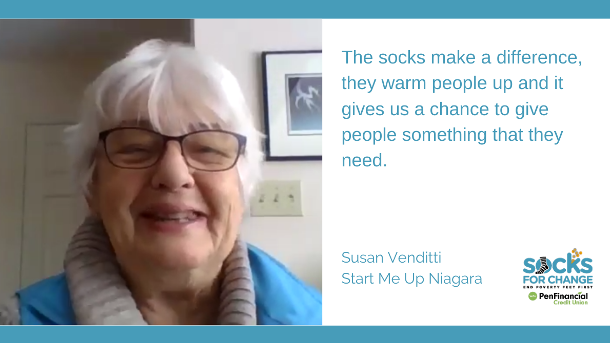 What Socks for Change Means to Start Me Up Niagara